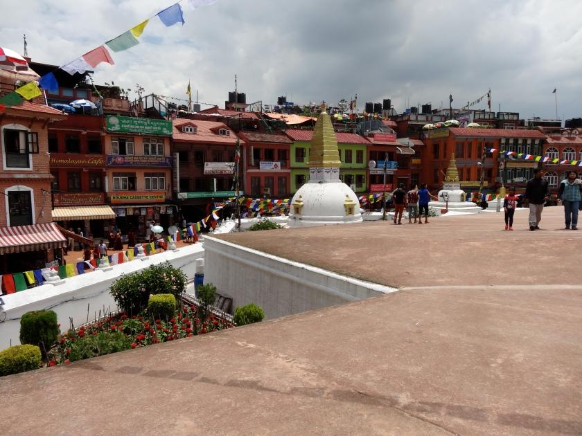 Boudhanath, Nepal, round square