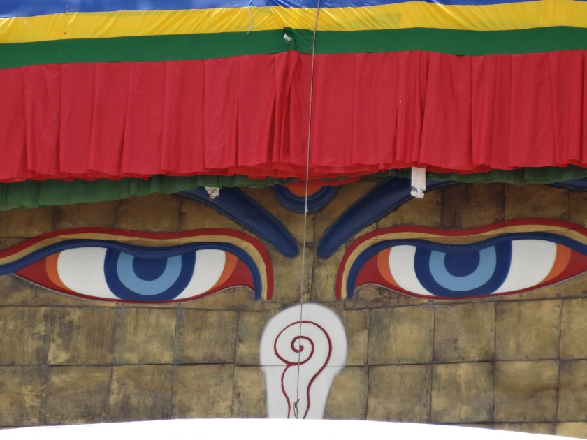 Buddha eyes Boudhanath, Nepal