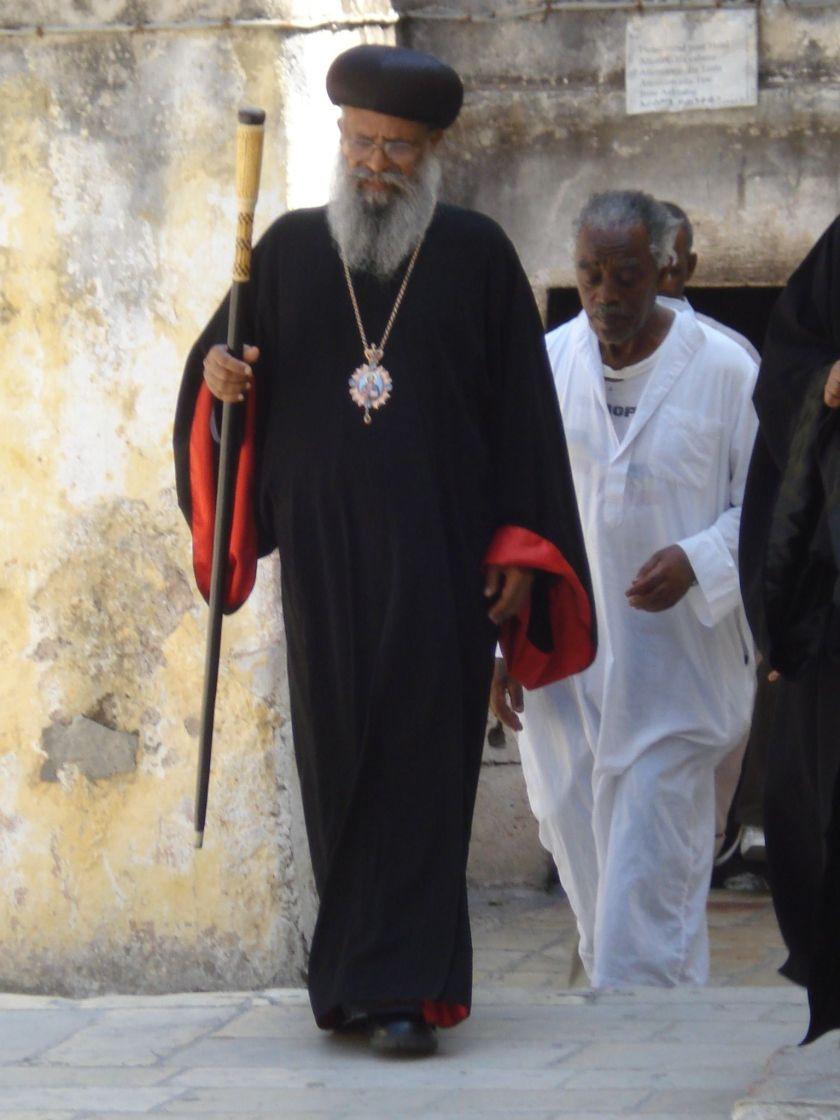 Jerusalem, Holy sepulcher, Ethiopian abbot