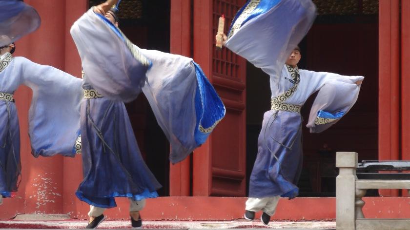 danze rituali al Tempio di Confucio