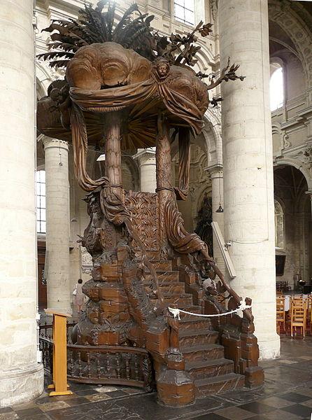 446px-Église_Saint-Jean-Baptiste_du_Béguinage-chaire_2